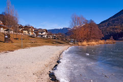 Lago di Serraia in Winter - Trentino Italy Stock Photo