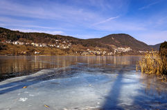 Lago di Serraia in Winter - Trentino Italy Stock Images