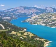 Lago di Serre-Poncon (alpi francesi) Immagine Stock Libera da Diritti