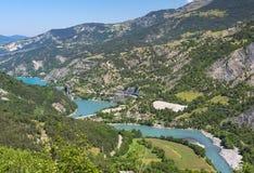 Lago di Serre-Poncon (alpi francesi) Immagini Stock Libere da Diritti