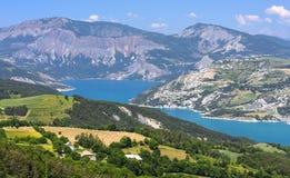 Lago di Serre-Poncon (alpi francesi) Fotografia Stock Libera da Diritti