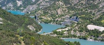 Lago di Serre-Poncon (alpi francesi) Immagini Stock