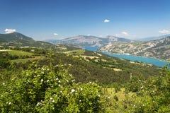 Lago di Serre-Poncon (alpi francesi) Fotografie Stock