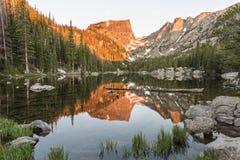 Lago di sogno Alpenglow Fotografia Stock Libera da Diritti