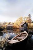 Lago di sogno e della barca fotografia stock