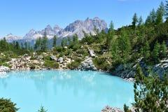 Lago di Sorapis, il Tarn immagine stock libera da diritti