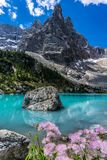 Lago di Sorapis in Italy royalty free stock photo