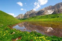 Lago di Spinale. Dolomites Italy Stock Photo