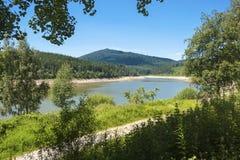 Lago di stoccaggio di Schwarzenbachtalsperre in Forbach Fotografie Stock