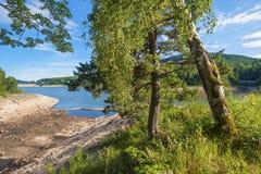 Lago di stoccaggio di Schwarzenbachtalsperre in Forbach Immagini Stock Libere da Diritti