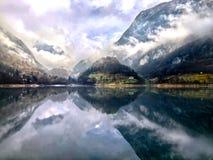 Lago di tenno lake, italy royalty free stock photography