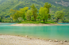 Lago di Tenno (Trentino, Italy) Royalty Free Stock Photos