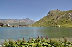 Lago di Tignes in Francia Fotografia Stock Libera da Diritti