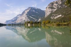 Lago di Toblino is a lake in Trentino, Italy. stock images
