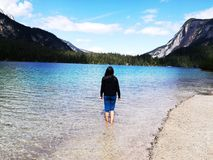 Lago di Tovel Стоковое Фото