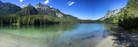 Lago di Tovel Stockfotos