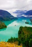 Lago diablo colorato bello turchese Fotografia Stock Libera da Diritti