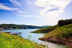 Lago in diga di Sirikit, Tailandia Fotografia Stock