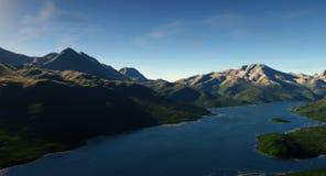 Lago digital Imagenes de archivo