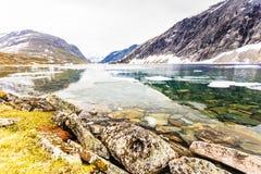 Lago Djupvatnet, Noruega Imagens de Stock