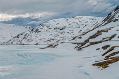 Lago Djupvatnet, Noruega Foto de Stock Royalty Free