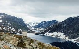 Lago Djupvatnet, Noruega Imagem de Stock Royalty Free