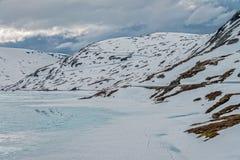 Lago Djupvatnet, Norvegia Fotografia Stock Libera da Diritti
