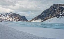 Lago Djupvatnet, Norvegia Fotografia Stock