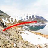 Lago Djupvatnet, Norvegia Immagini Stock