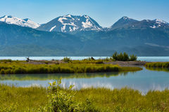 Lago do Alasca mountain Fotografia de Stock Royalty Free