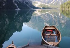 Lago diBraies Stock Image
