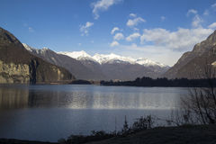 Lago do mezzola Fotografia de Stock Royalty Free