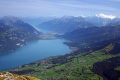 Lago do Mountain View de Thun Fotografia de Stock