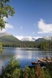 Lago do pleso de Strbske fotos de stock