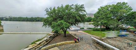 Lago do pássaro da senhora em Austin Texas Imagens de Stock