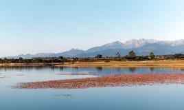 Lago do rosse de Teppe em Córsega fotos de stock royalty free