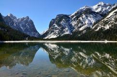 Lago Dobbiaco fotografía de archivo