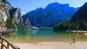 Lago Dolomiti Foto de archivo libre de regalías