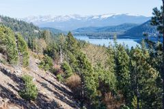 Lago Donner Fotos de Stock Royalty Free