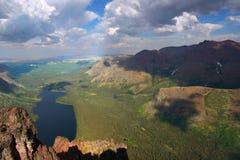 Lago dos medicine - parque del glaciar Fotografía de archivo