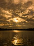 Lago dourado Imagem de Stock