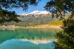 Lago Doxa al Peloponneso in Grecia Immagini Stock