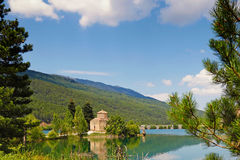 Lago Doxa en Feneos, Grecia Fotografía de archivo