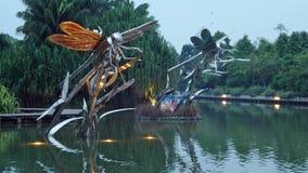 Lago dragonfly Foto de Stock