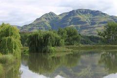 Lago drakensberg imagen de archivo libre de regalías