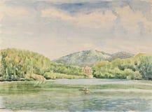 Lago drawing royalty illustrazione gratis