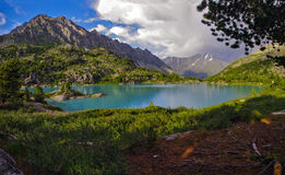 Lago Driscoll em Altai Fotos de Stock