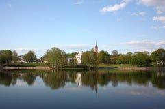 Lago Druskonis en Druskininkai Fotografía de archivo libre de regalías