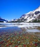 Lago duas medicine, parque nacional de geleira fotografia de stock royalty free