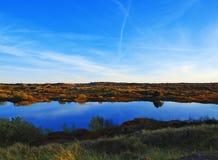Lago in dune Immagini Stock Libere da Diritti